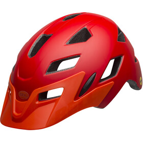 Bell Sidetrack MIPS Helmet Kinder matte red/orange